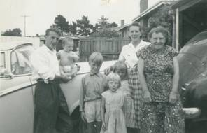Jack and eldest son with sister Natalie Plunkett, mother Ruby and Natalie's children.
